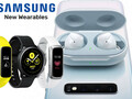 Wearables: Samsung Galaxy Watch Active, Galaxy Fit/Galaxy Fit e und Galaxy Buds.