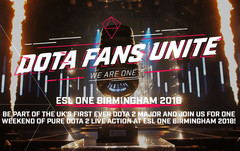 ESL One Birmingham 2018: Dota 2 Major in UK von 25. bis 27. Mai.