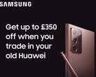Samsung UK trollt Huawei mit Galaxy Note20 Ultra für P30 Pro Trade-in.