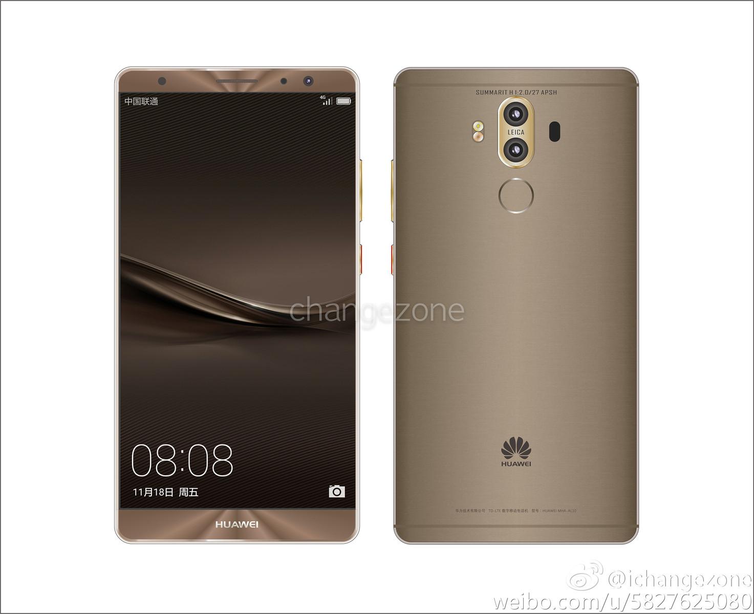 Huawei Mate 9-Leak: Preise, Bilder und Konfigurationen ...