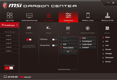 MSI Dragon Center, Systemtuner