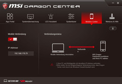 MSI Dragon Center, Mobiles Center