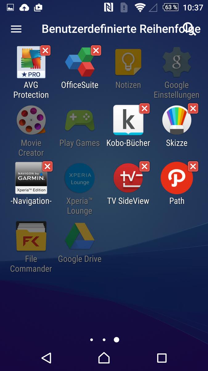sony xperia facebook app entfernen