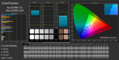 4k CalMAN Color Checker kalibriert