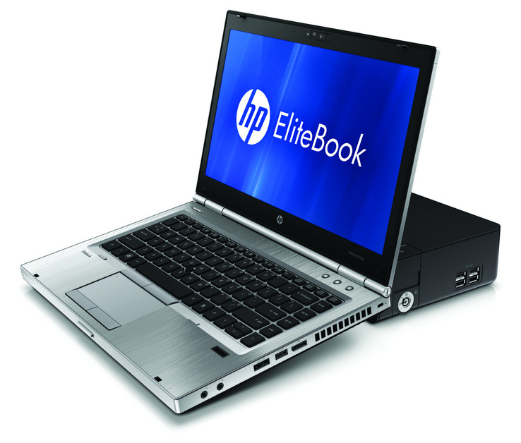 HP EliteBook 8460p auf HP 120W Advanced Docking-Station