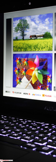 Asus Taichi 21: Zwei sehr gute IPS Full-HD Panels.