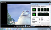 Big Buck Bunny 720p mp4 flüssig CPU 70-95%