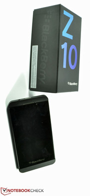 Das Blackberry Z10 Smartphone...