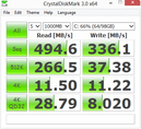 Crystal Disk Mark 494 MB/s seq. Read