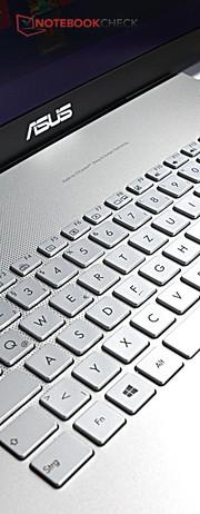 N751J DEUTSCHE Silber Tastatur Keyboard Ohne Rahmen mit Beleuchtung f/ür ASUS N751