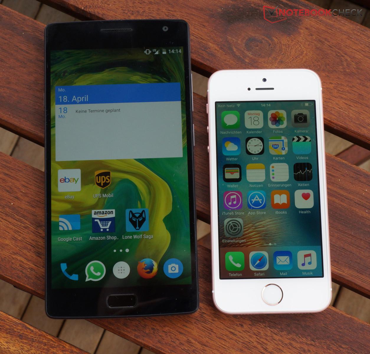 Grossenvergleich OnePlus 2 Apple IPhone SE