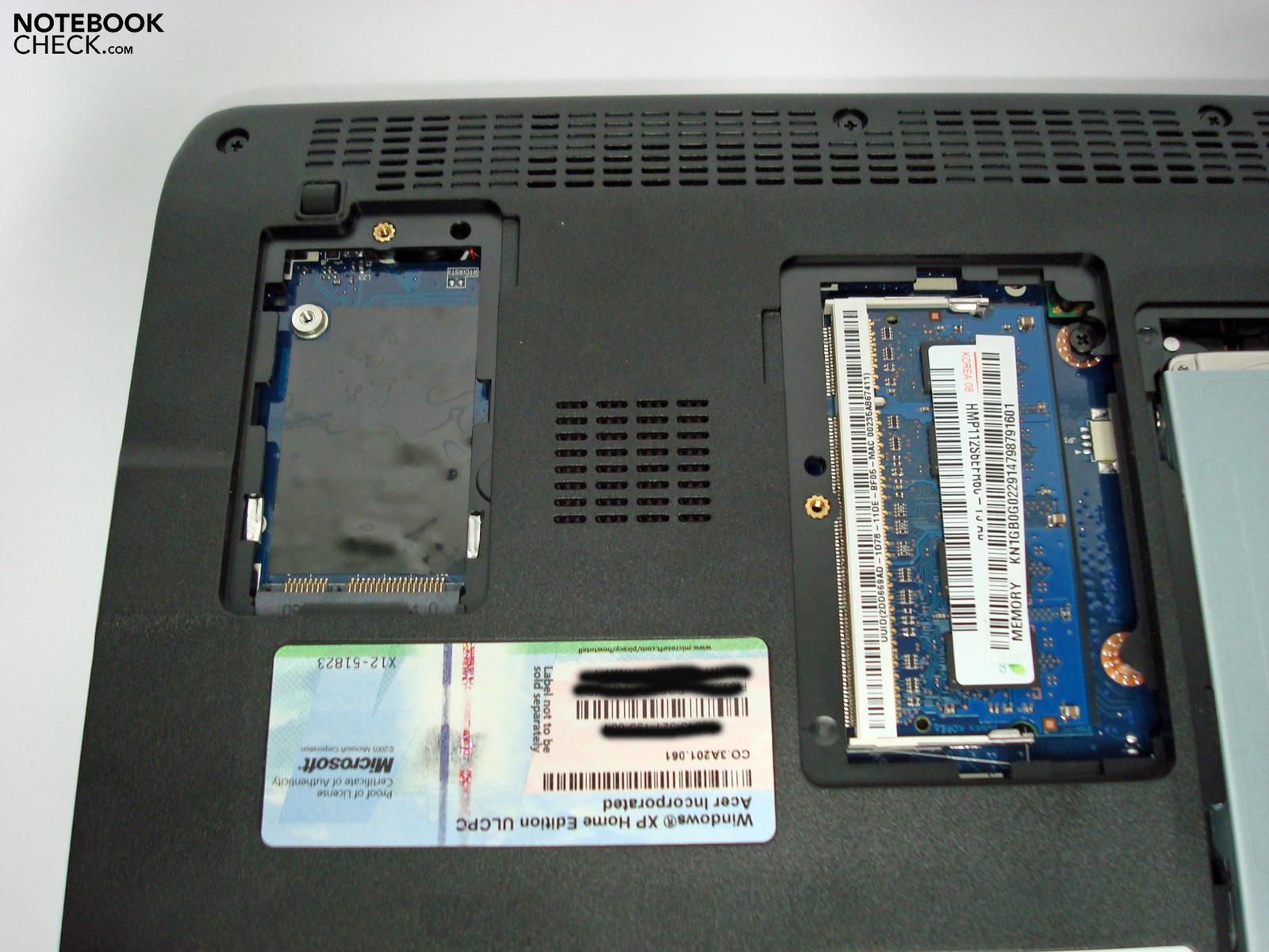 Test Acer Aspire One D250 Mininotebook - Notebookcheck.com ...