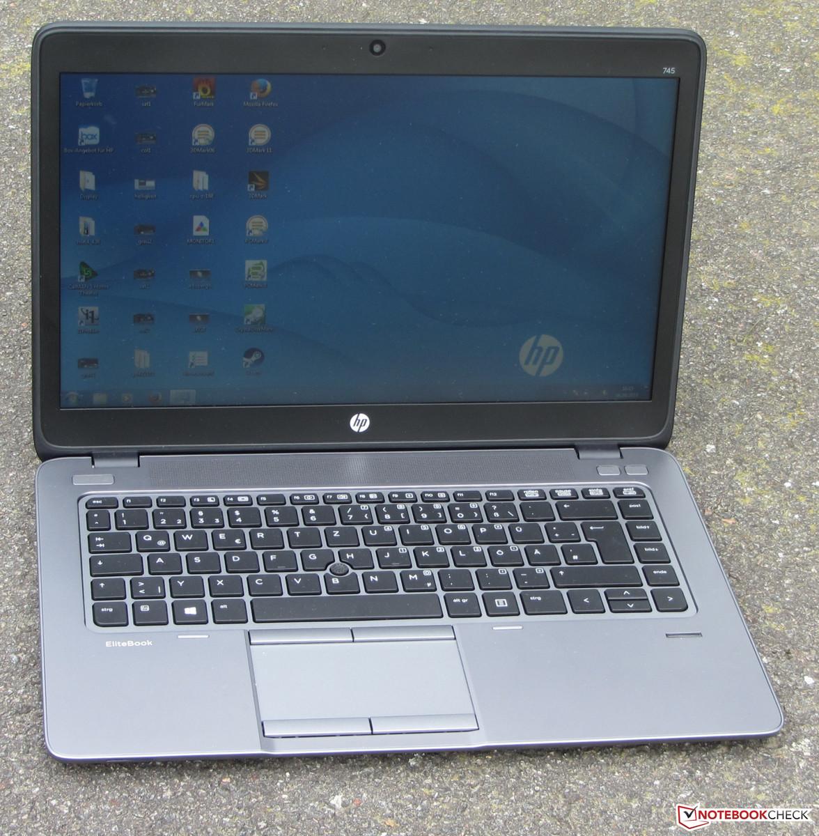 Test HP Elitebook 745 G2 Notebook - Notebookcheck.com Tests
