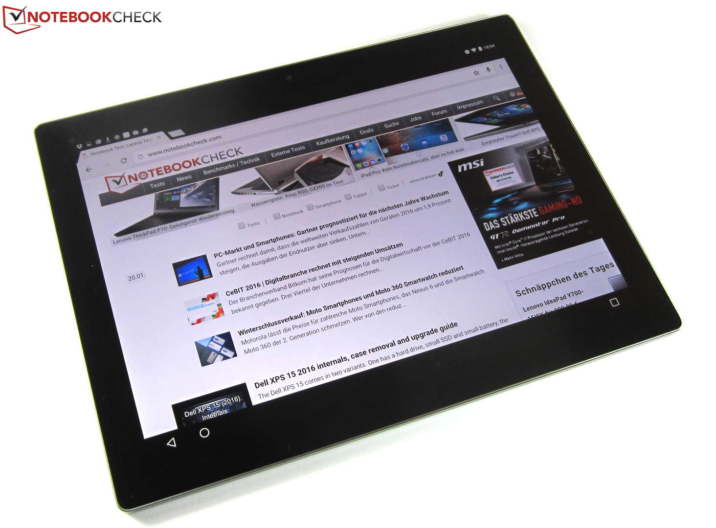 Test Google Pixel C Tablet