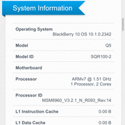 Geekbench 2 Systeminformation