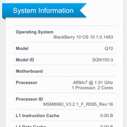Geekbench 2 Systeminformationen