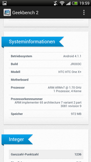 Geekbench 2 Benchmark Systeminfo