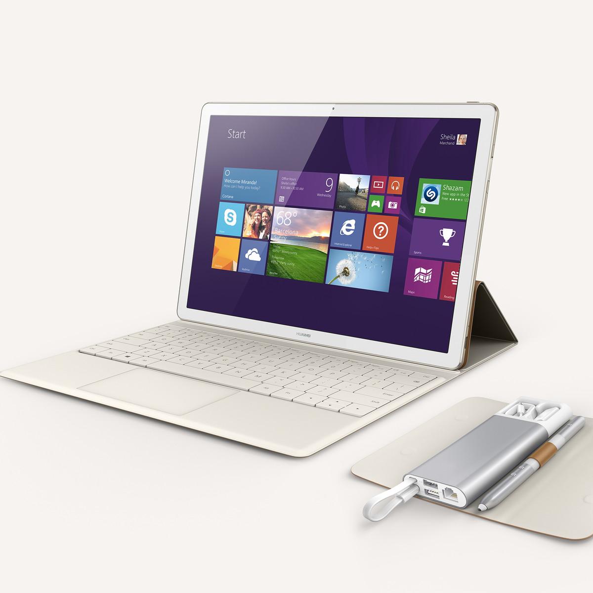 Huawei MateBook 2-in-1 mit Stylus, Tastatur und Windows 10 ...