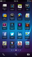ein Homescreen von Backberry 10