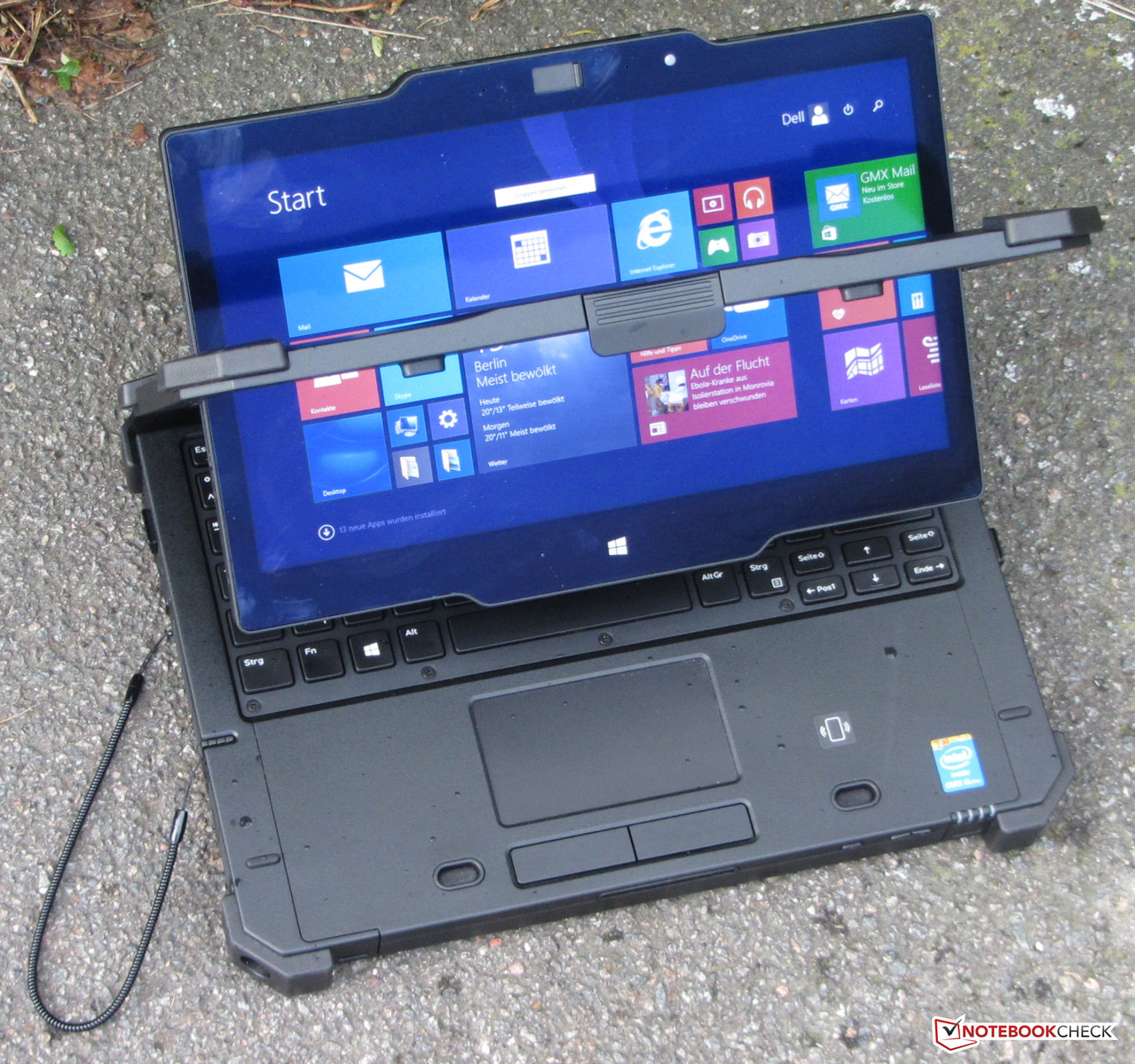 Test Dell Latitude 12 Rugged Extreme Convertible