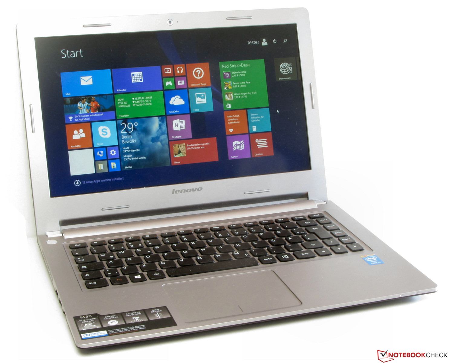 Test Lenovo M30 70 Notebook