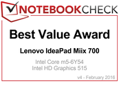 Best Value Award im Februar 2016: Lenovo IdeaPad Miix 700