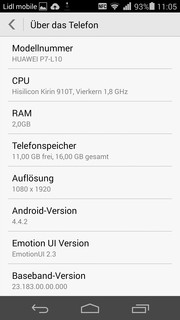 Android Systeminformationen