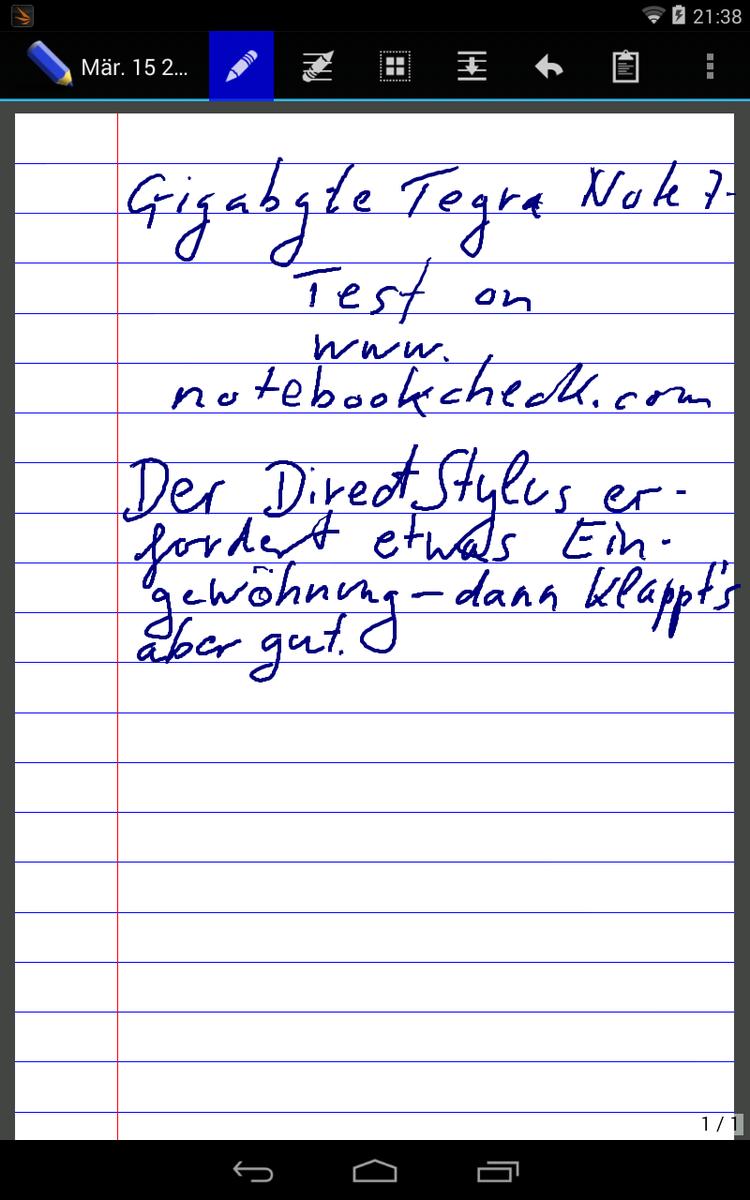 Test Nvidia Tegra Note 7 Tablet