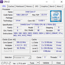 "Intel Core i7-7500U ""Kaby Lake"""