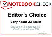 Editor's Choice im Juni 2014: Sony Xperia Z2 Tablet