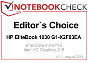 Editor's Choice Award im August 2016: HP EliteBook 1030 G1