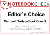 Editor's Choice im November 2015: Surface Book Core i5