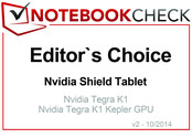 Editor's Choice im Oktober 2014: Nvidia Shield Tablet