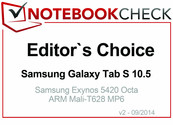 Editor's Choice im September 2014: Samsung Galaxy Tab S 10.5