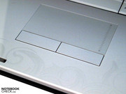 Teilweise eigenwilliges Touchpad