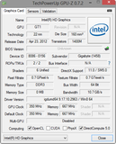 Systeminfo GPU-Z Intel HD Graphics (Ivy Bridge)
