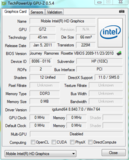 GPUZ Intel HD Graphics 3000
