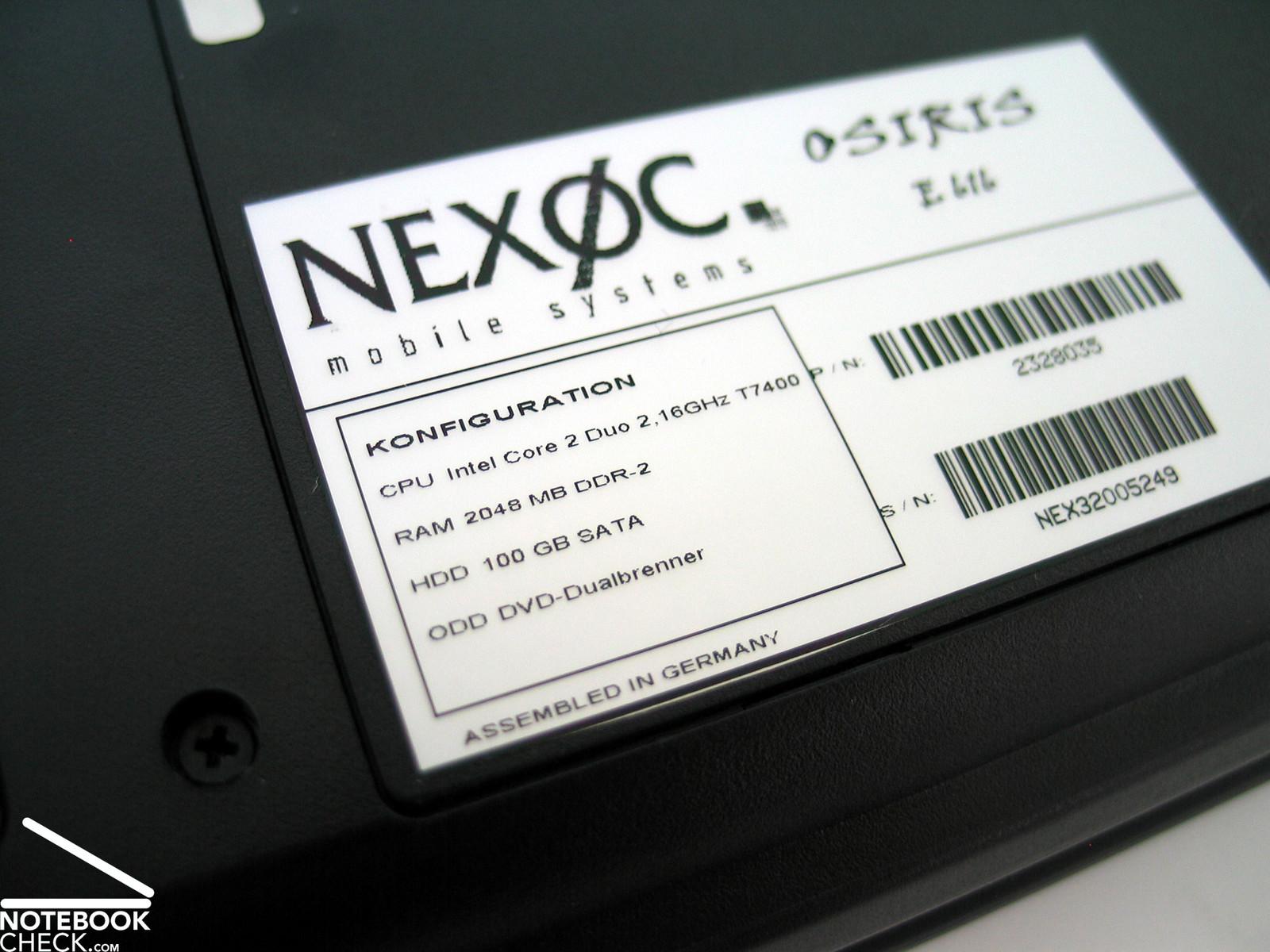 Test Nexoc Osiris E616 Notebook - Notebookcheck.com Tests