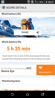 Akkutest: HTC Desire Eye