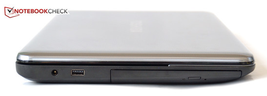 links: Strom, USB 2.0, DVD-Brenner