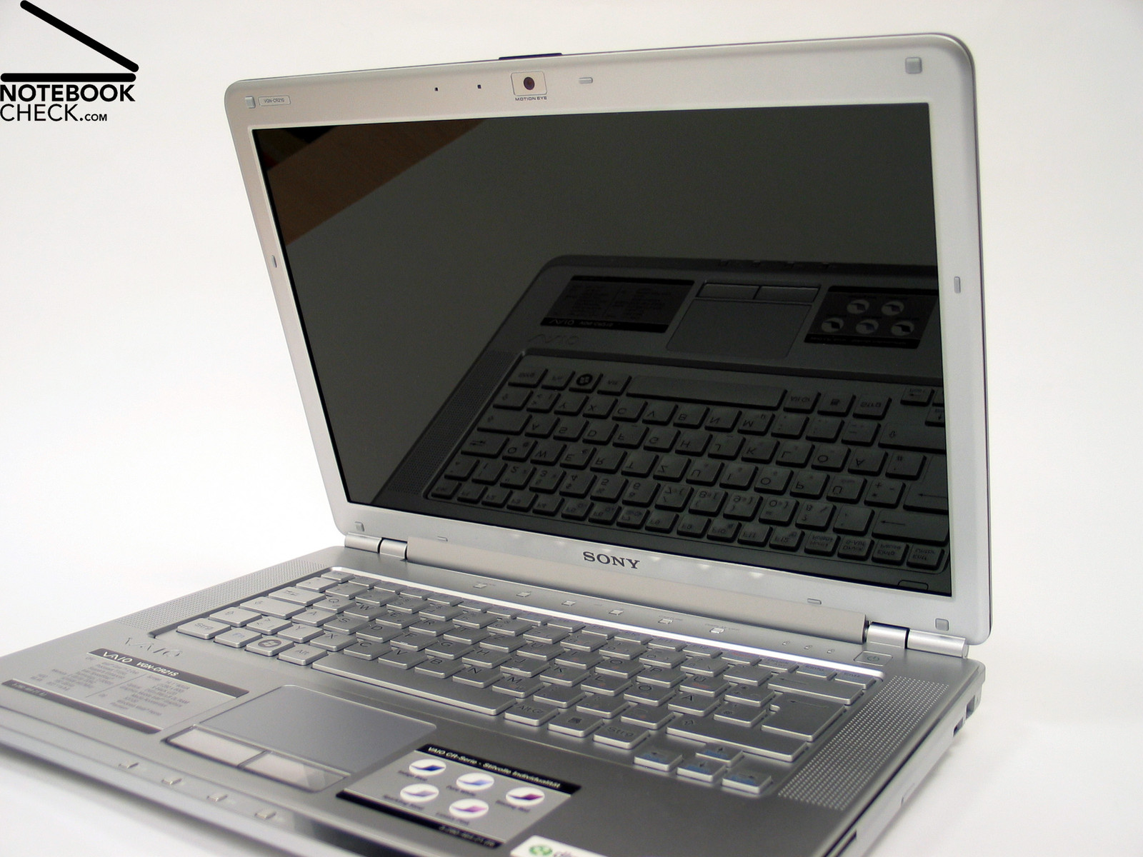 Test Sony Vaio VGN-CR21S Notebook - Notebookcheck.com Tests