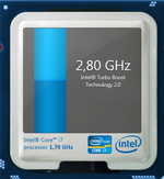 2,8 GHz maximale Turbo-Taktrate