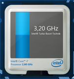 3,2 GHz maximale Turbo-Taktrate