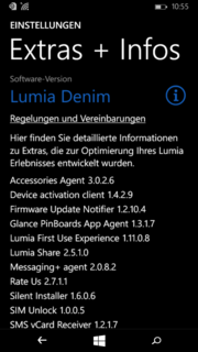 Die aktuelle Windows-Phone-Version ist installiert.