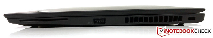 rechts: SmartCard, USB 3.0, Steckplatz für Sicherheitsschloss