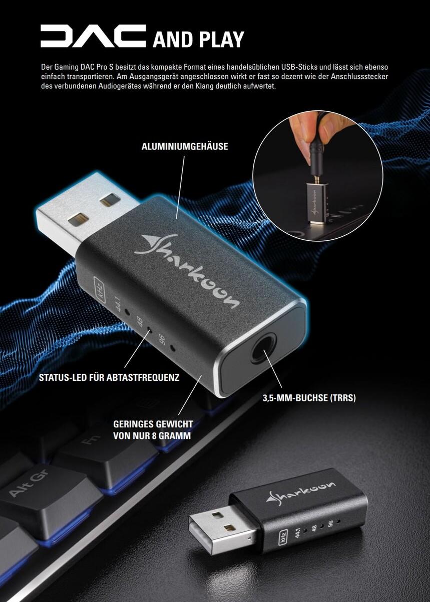 Sharkoon Gaming DAC Pro S Externe USB Hi-Res Audio Soundkarte