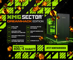 Starke Sonderedition, starke Rabatte: XMG Sector2 DreamHack Edition PC mit bis zu 900 Euro Rabatt!