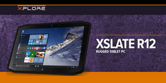 Xslate R12: Robuster Tablet-PC mit Intel Core i7-7600U und 1-TB-SSD