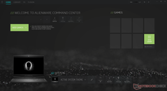 Alienware Command Center Homescreen