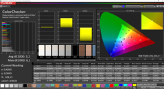 CalMAN ColorChecker (Zielfarbraum sRGB)